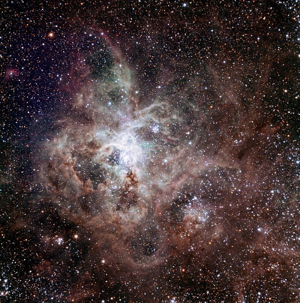"""I am sure that southern hemisphere observers will agree with me that observing his catalogue systematically is one of the most enjoyable and satisfying observing experiences, and that yes, indeed, """"The so-called nebulous stars offer to the eyes of the observers a spectacle so varied that their exact and detailed description can occupy astronomers for a long time."""" Tarantula Nebula image credit ESO"""