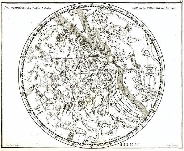 Lacaille's planisphere, Jean Fortin's Atlas Céleste